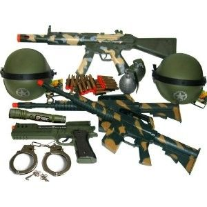 2X Toy Machine Guns Military Soldier M-16 Toy Rifles Toy Gun Set