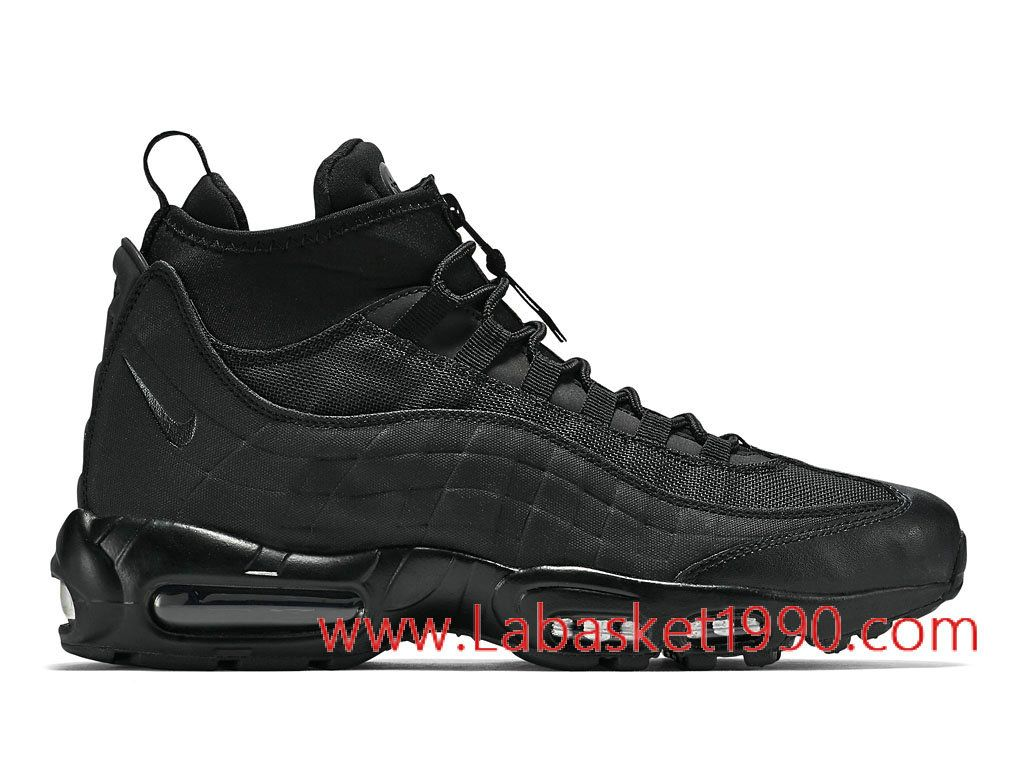 Nike Air Max 95 Sneakerboot 806809_002 Chaussures Nike Prix Pas Cher Pour  Homme Noir