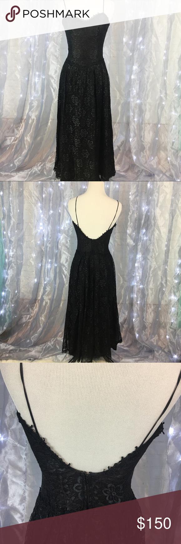 Authentic Vintage Black Lace Dress Gunne Sax Vintage Black Lace Dress Vintage Wedding Guest Dresses Lace Wedding Dress Vintage [ 1740 x 580 Pixel ]