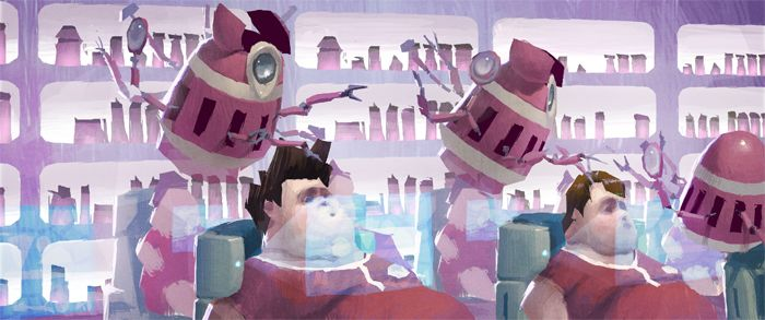 Pixar film Wall E Dice Tsutsumi   Paintings   Pinterest   Concept ...