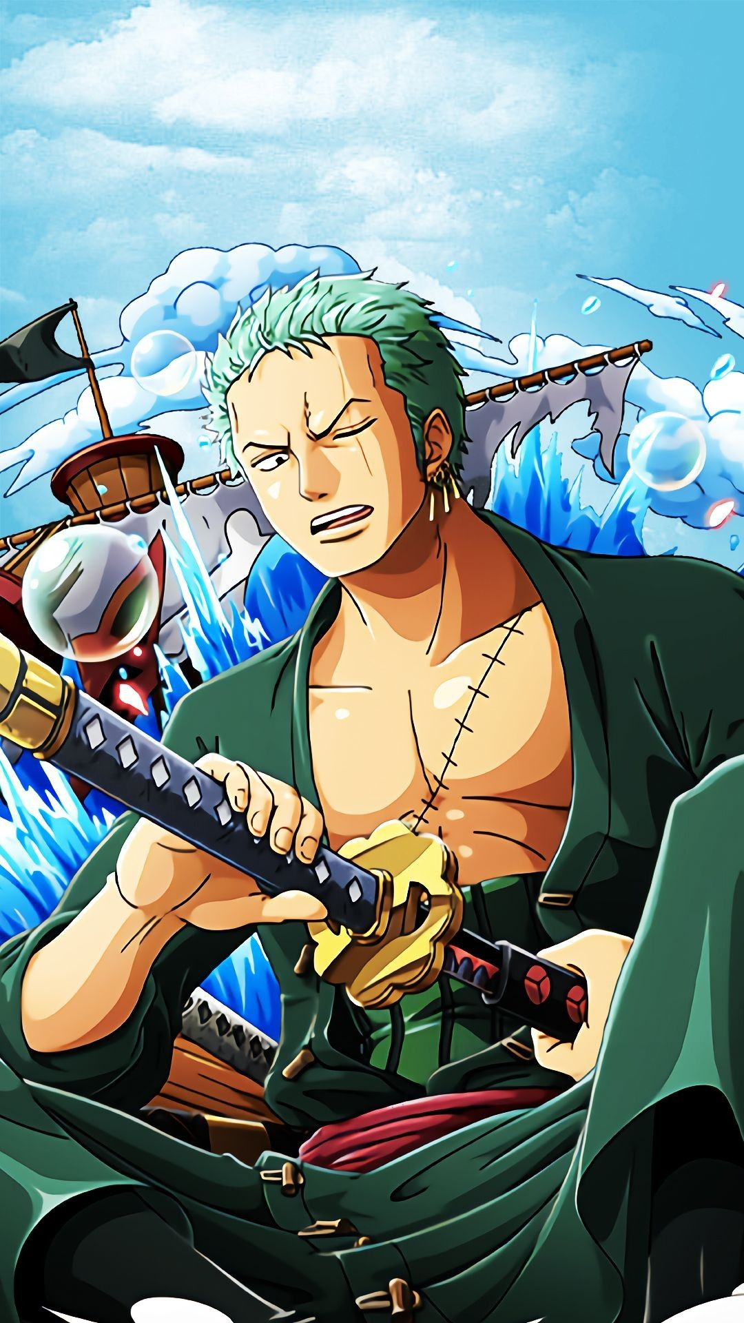 Iphone X Xr Xs 6 7 8 Plus Soft Tpu Rubber Case With Clear Back Roronoa Zoro One Piece Wallpaper Iphone One Piece Manga Zoro One Piece