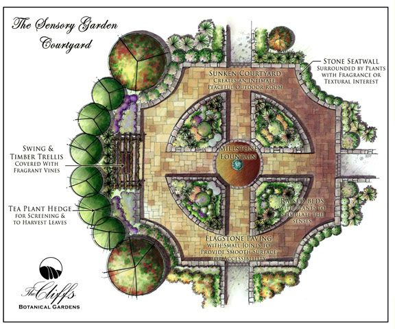 Formal And Gorgeous Courtyard Design From The Cliffs