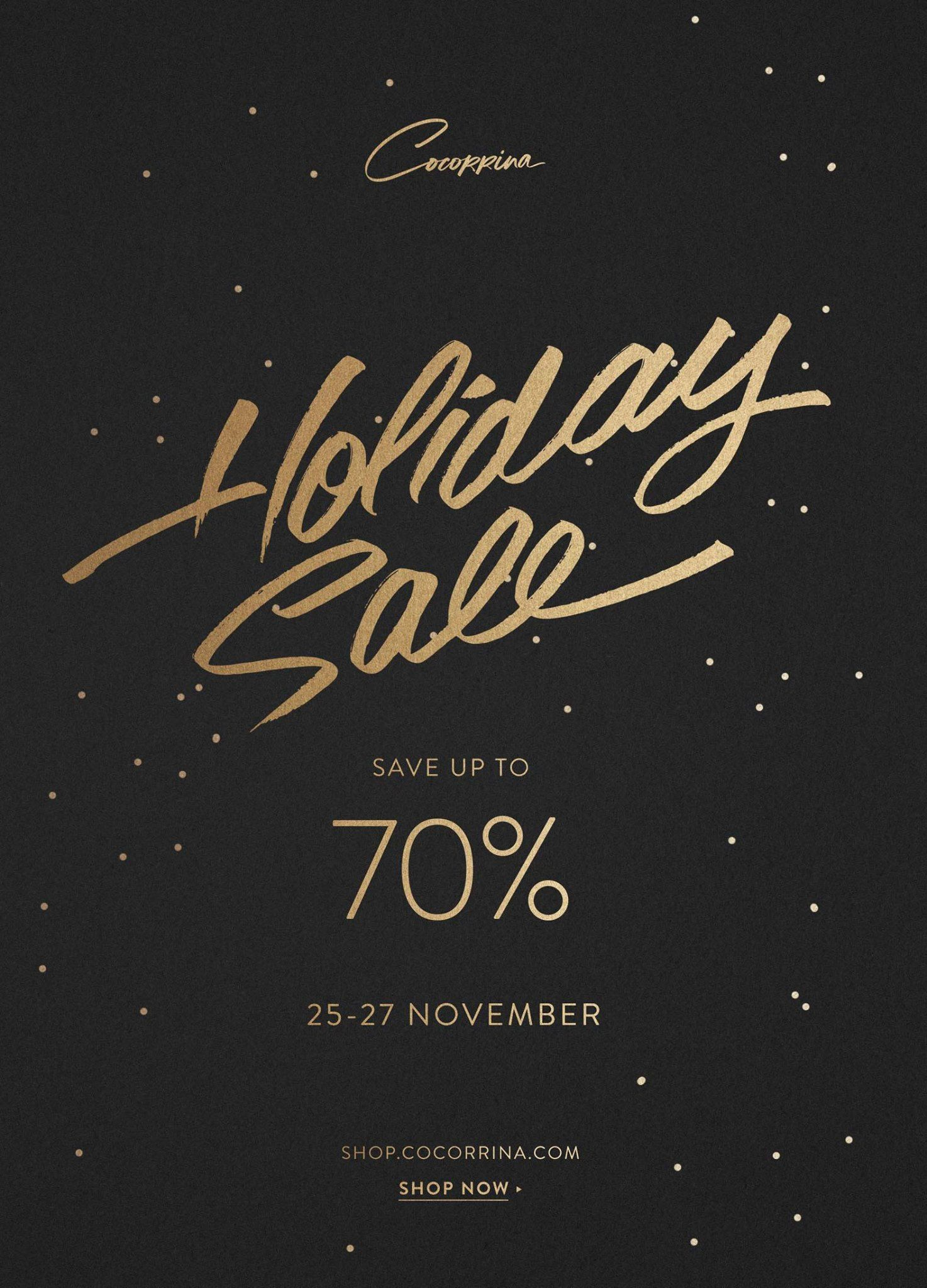 Cocorrina Holiday Sale