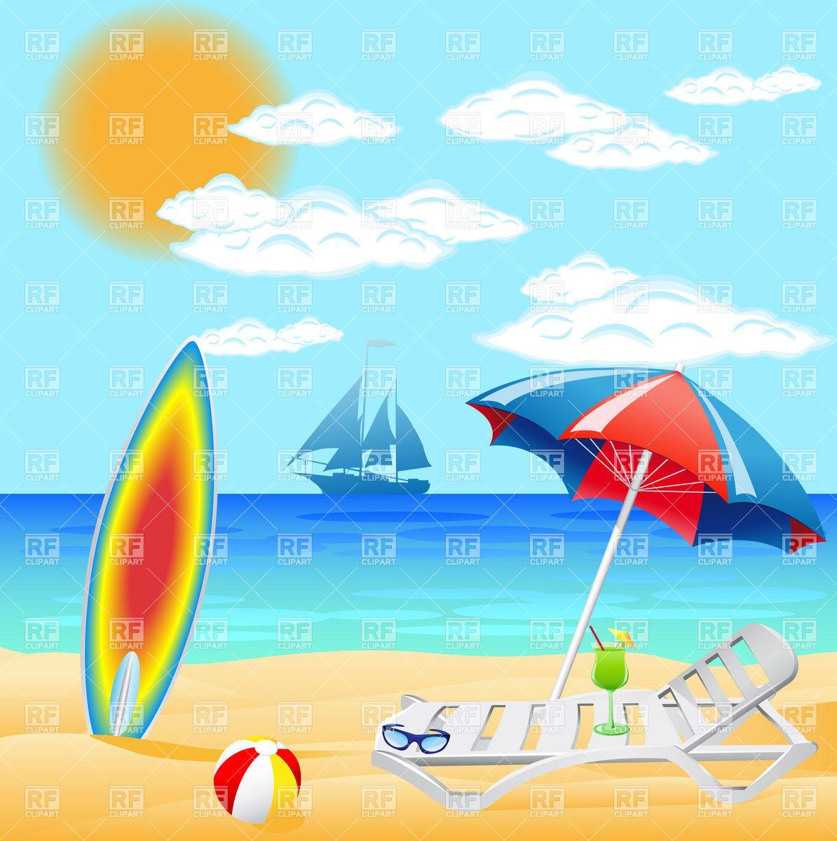 Beach Vacation Clip Art Pics Photos Summer Vacation Clip Art Images Summer Vacation Stock Beach Illustration Beach Scenes Beach Pictures