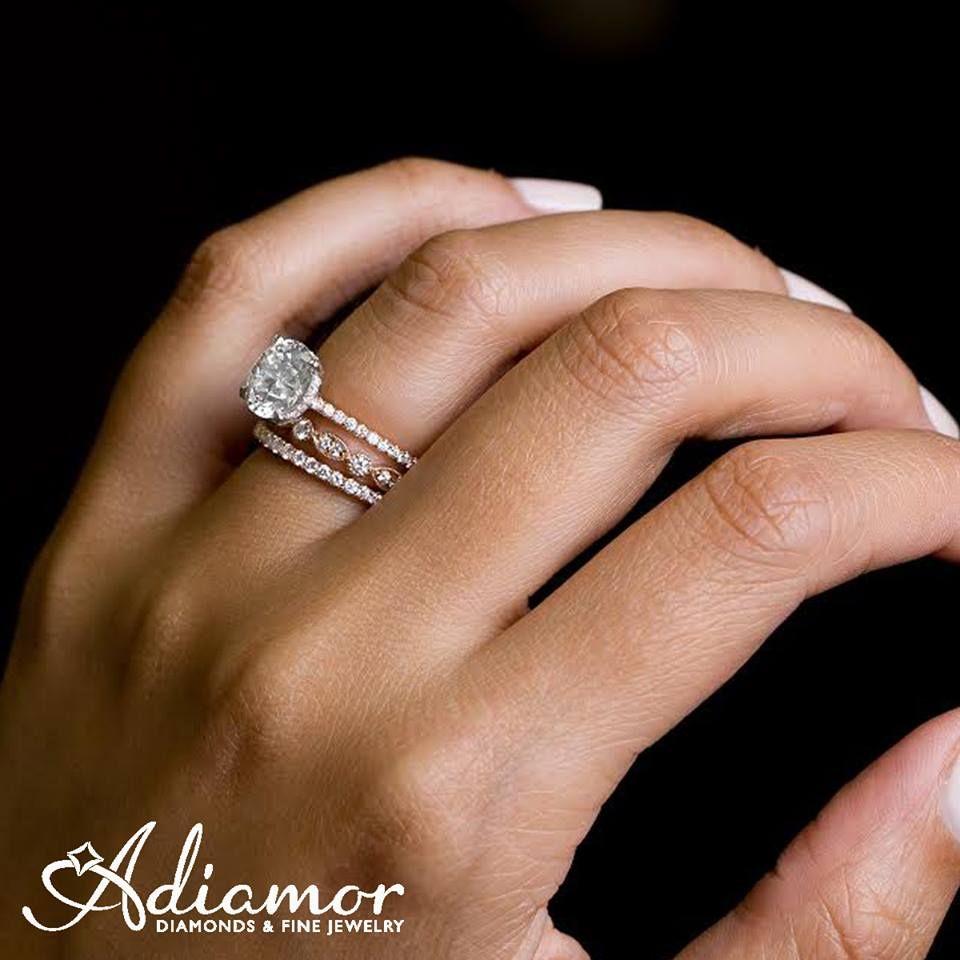 2//3 cttw Black Diamond Engagement Bridal Ring Set .925 Sterling Silver Milgrain