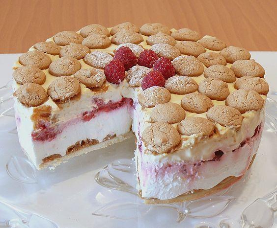 Himbeer - Amarettini - Torte (oder Kuppel)