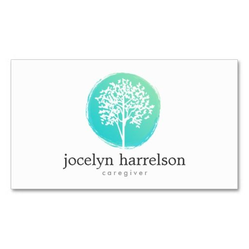 Tree Of Life Nurse Caregiver Business Card Zazzle Com