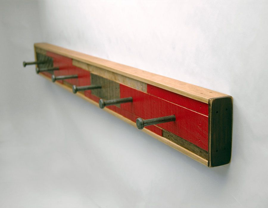 Coat Rack 6 Hook Reclaimed Wood (Made to Order). $85.00, via Etsy.  SHOP. SixFingerStudios