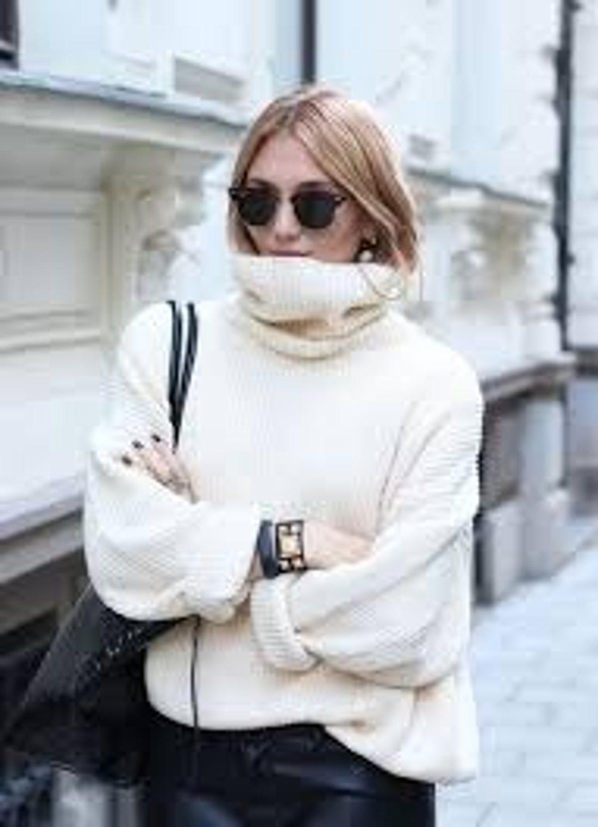 Photo of Oversized Chunky Turtleneck Sweater