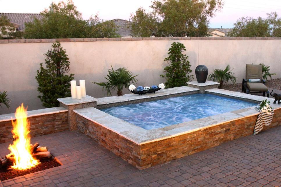 30 Cool Fire Pit Ideas Hot Tub Backyard Backyard Fire Small Backyard Pools