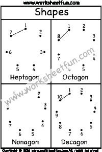 Dot to Dot - Polygons - Heptagon, Octagon, Nonagon ...