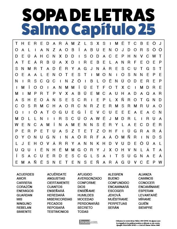 Sopa De Letras De La Biblia Gratis Salmo Capitulo 25 En 2020 Buenos Dias Amiga Frases Sopa De Letras Citas Sobre Amigos