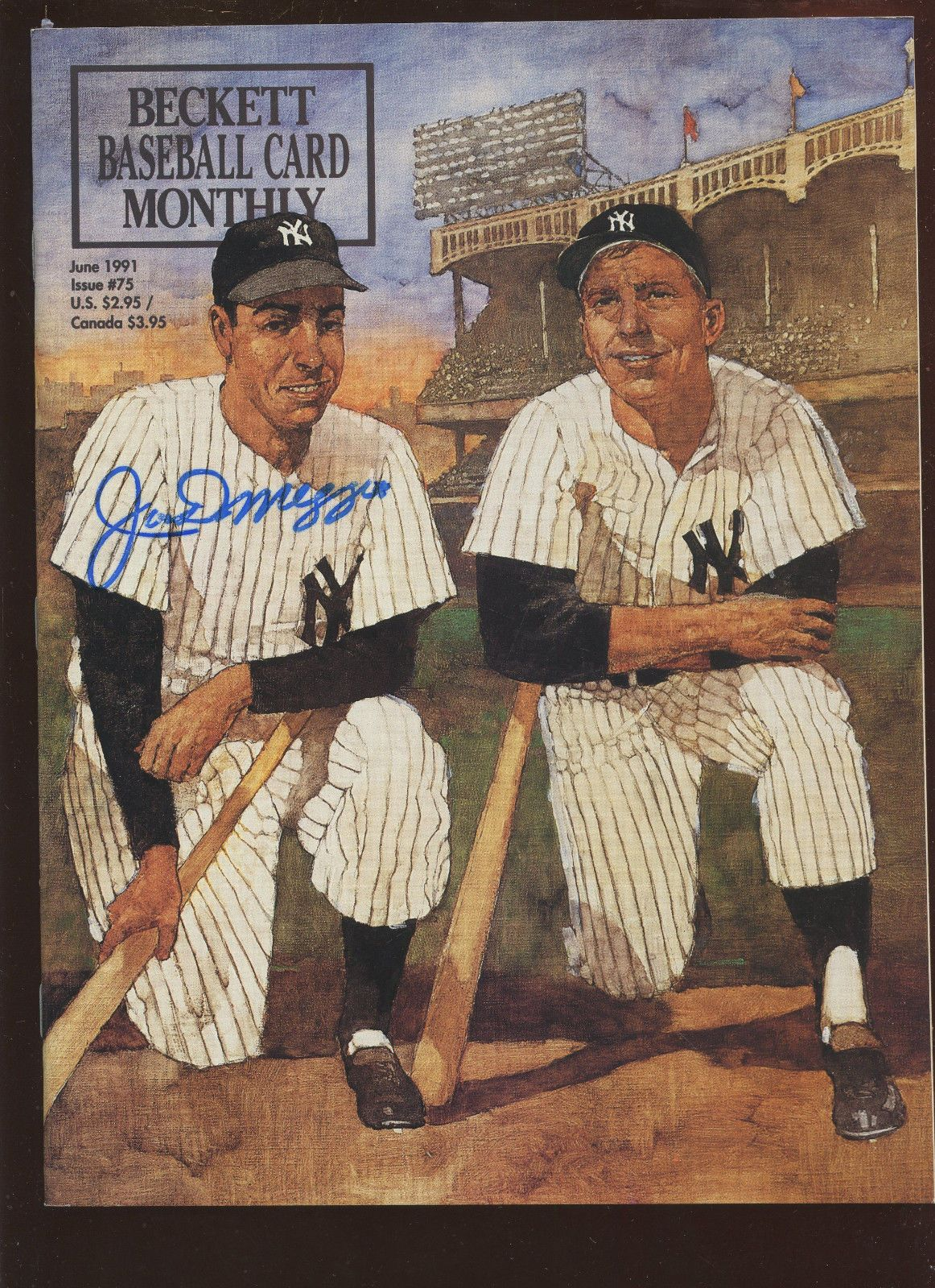 June 1991 Beckett Magazine Joe DiMaggio Autographed PSA LOA ...
