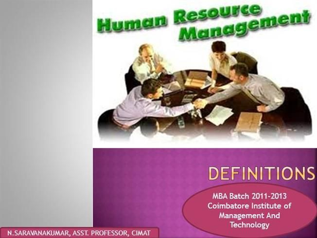 HRM Definition by saran263 via authorSTREAM