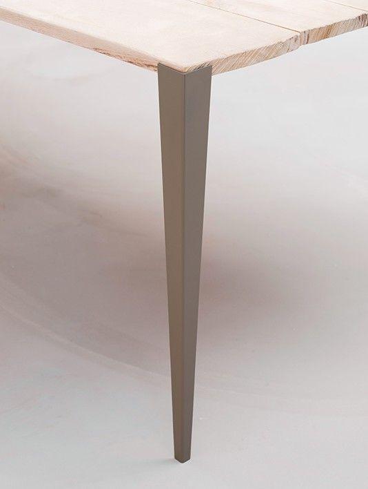 Pieds De Bureau Design En Metal Peint Gris Tolix
