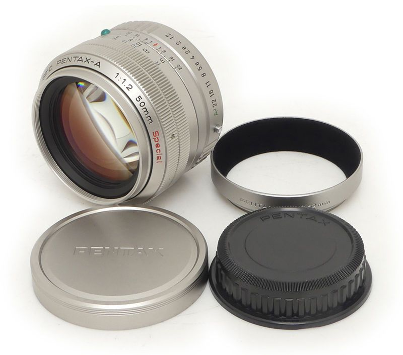 Pentax Smc A 50mm F1 2 Special Lens Pentax Mh Rc 52mm Hood For Pentax Lx 2000 Electronic Products Lenses Camera