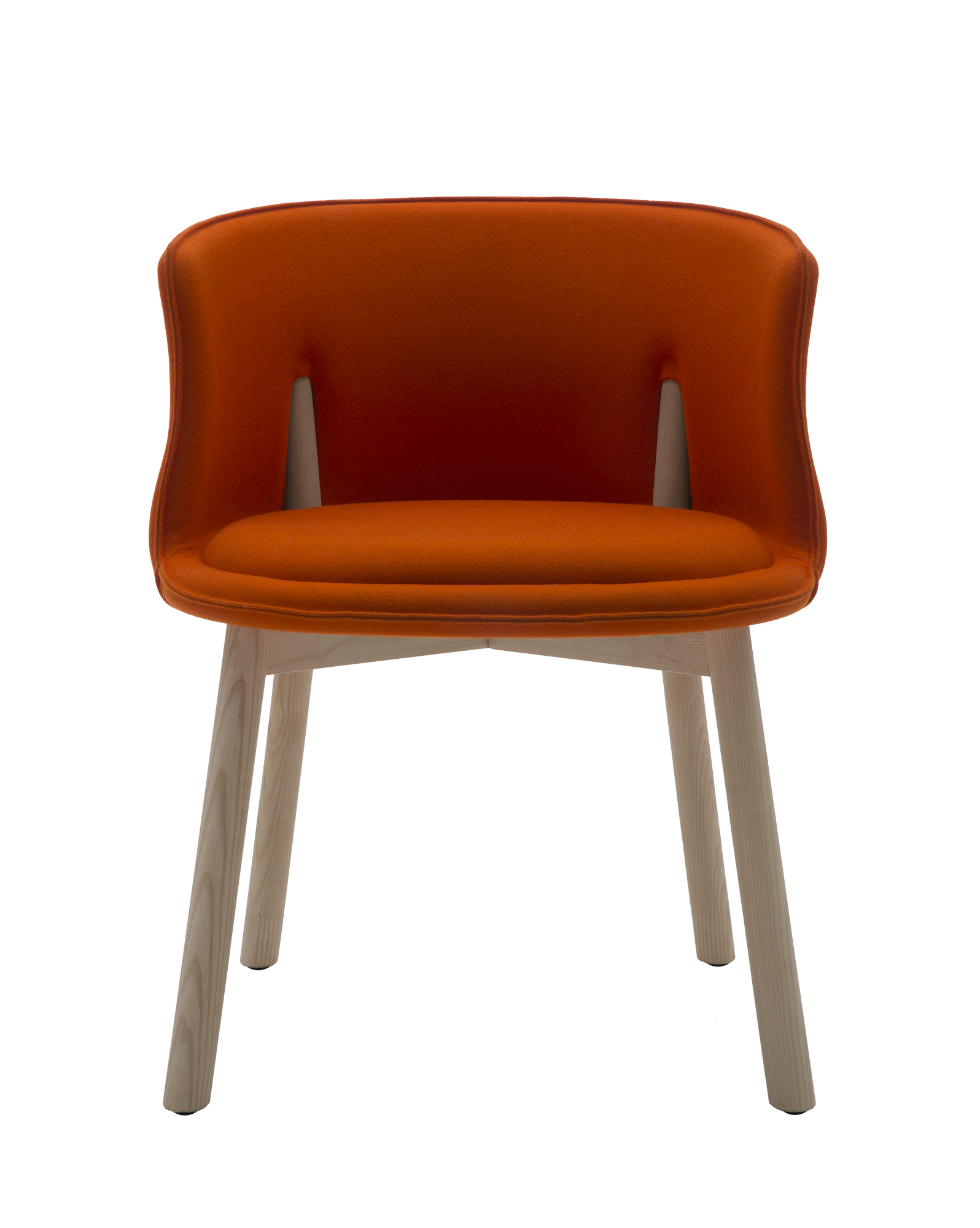 A Round Shaped Chair With Back Legs In Solid Ash Wood That Pierce The Sides Of The Backrest Which Provides Support For The Back And Desp Swivel Dining Chairs Chair Chair