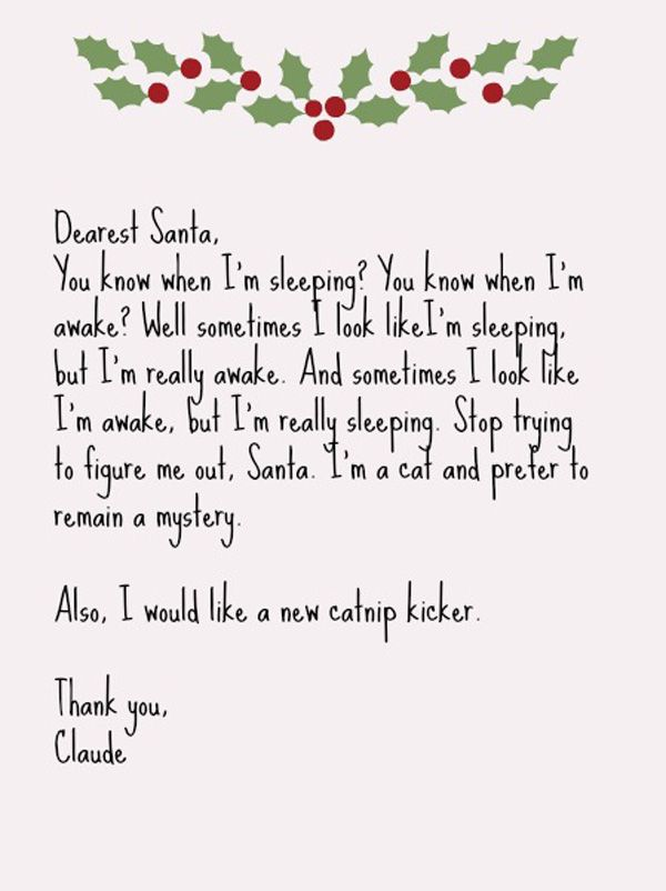 What Happens When  Cats Write Letters To Santa  Catster