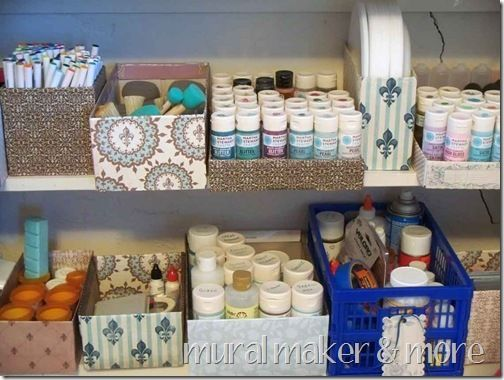 Mod podge and paper everything in sight - including pill bottles, for cute and inexpensive organization!