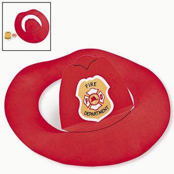 386dc8542e Espaço Educar: Que tal fazer um chapéu de bombeiro para os pequenos? com  molde!