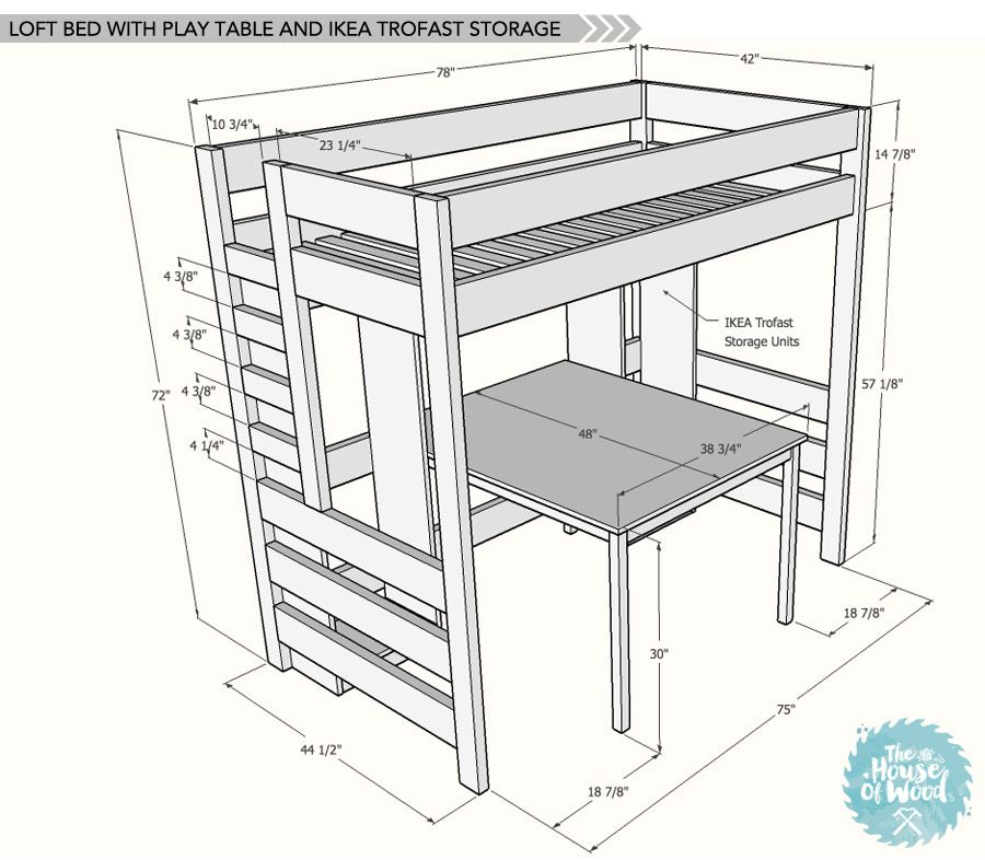 diy loft bed with desk and storage homy loft bed plans bunk beds y bunk bed plans. Black Bedroom Furniture Sets. Home Design Ideas
