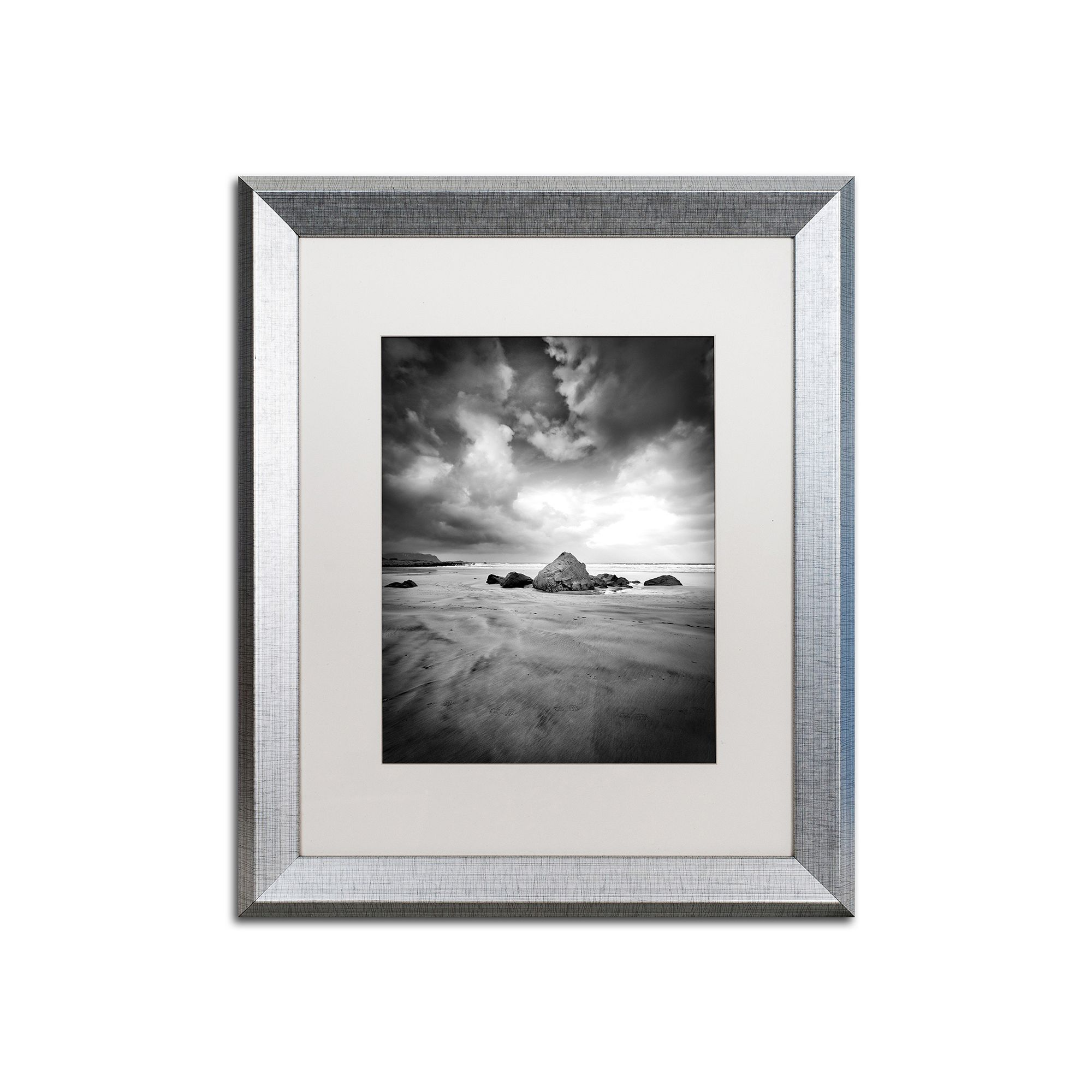 Trademark Fine Art World In Change Silver Finish Framed Wall Art ...