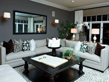 Coastal Colonial   Traditional   Living Room   San Diego   Intimate Living  Interiors · Gray Living Room Decor ...