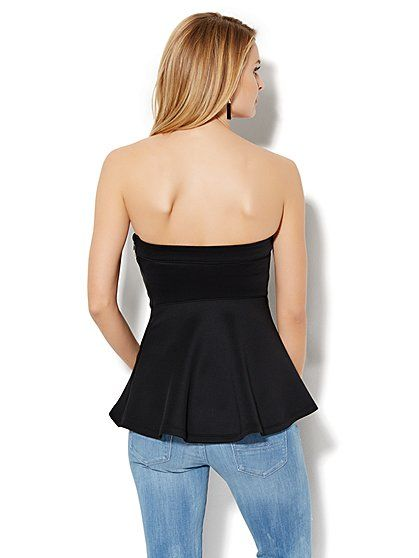 21b1407510f Strapless Hi-Lo Peplum Top - New York   Company