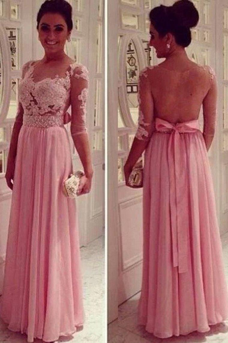 A-line prom dress,Beautiful Applique prom dress,Elegant Women dress ...