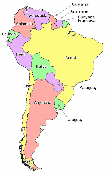 Mapa De Sudamerica Paises.Resultado De Imagen Para Mapa De Sudamerica Dibujar Chile