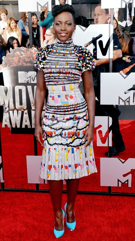 MTV Movie Awards 2014 Red Carpet - Lupita Nyong'o from #InStyle