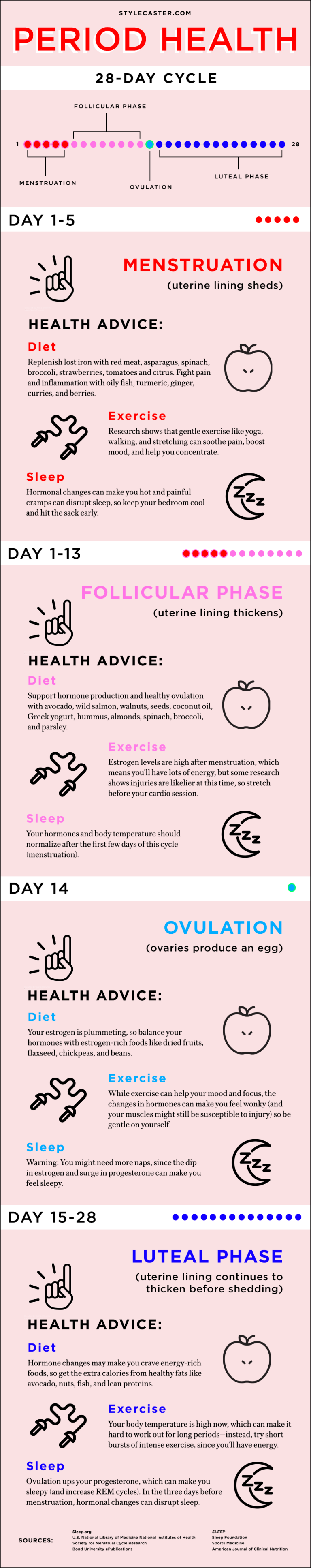 Health Advice for Every Phase of Your Menstrual Cycle