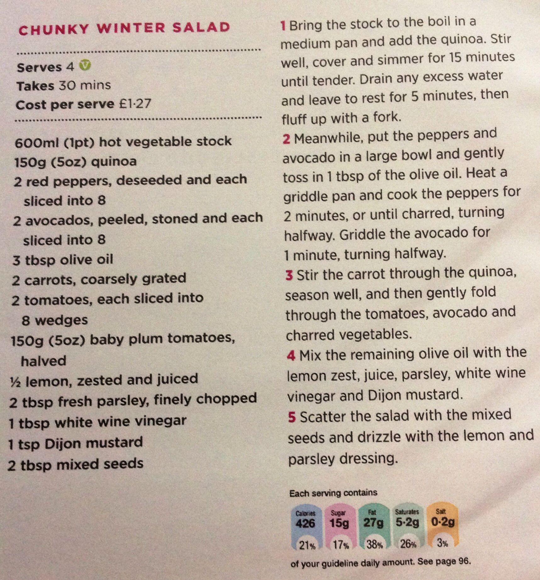 Chunky winter salad
