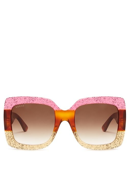 a506c2215d64c Gucci Oversized square-frame sunglasses