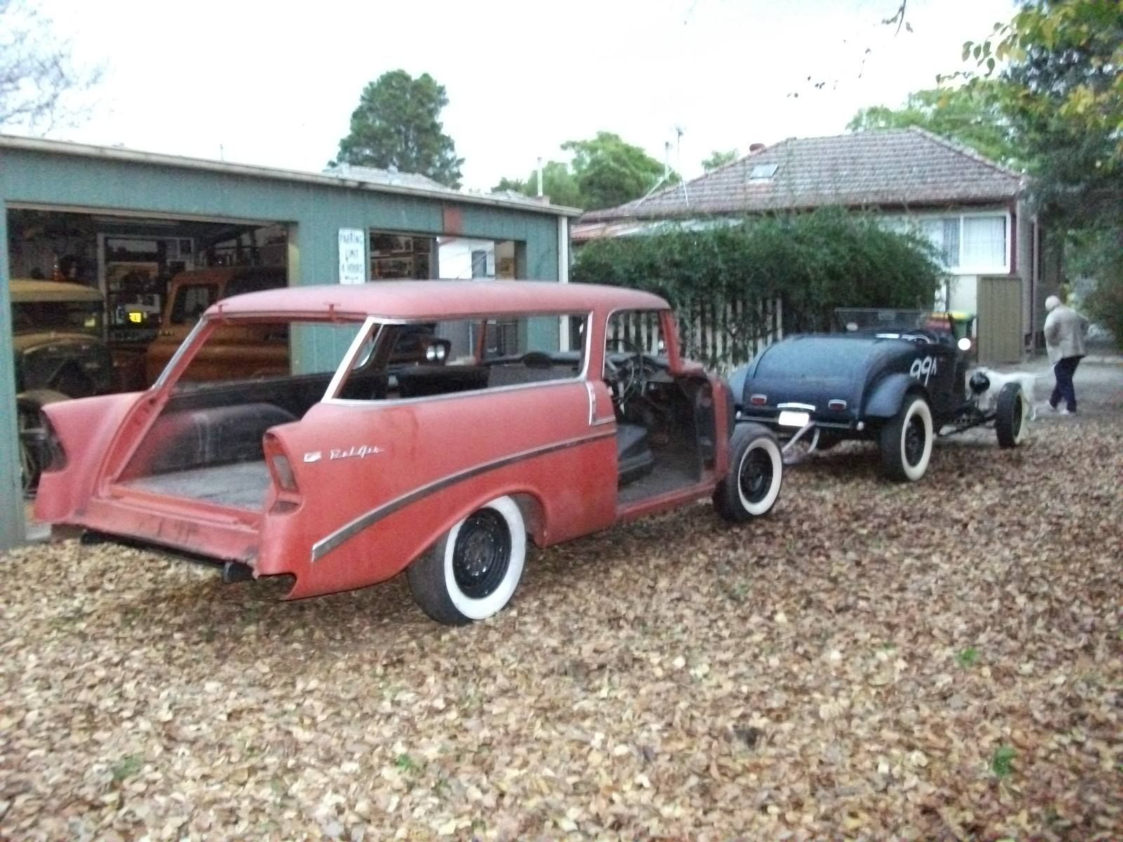 1956 Chev Nomad Bought At Blacktown Swap 1980s Converted To Rhd