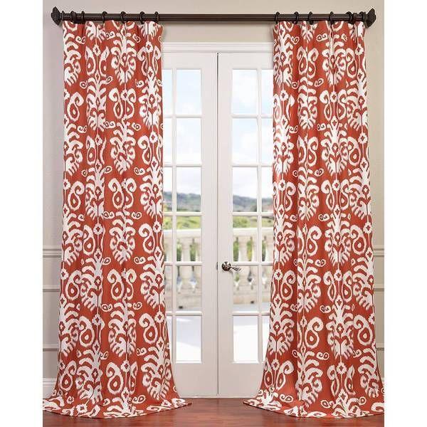 Exclusive Fabrics Sri Lanka Printed Cotton Twill Curtain Panel By Exclusive  Fabrics