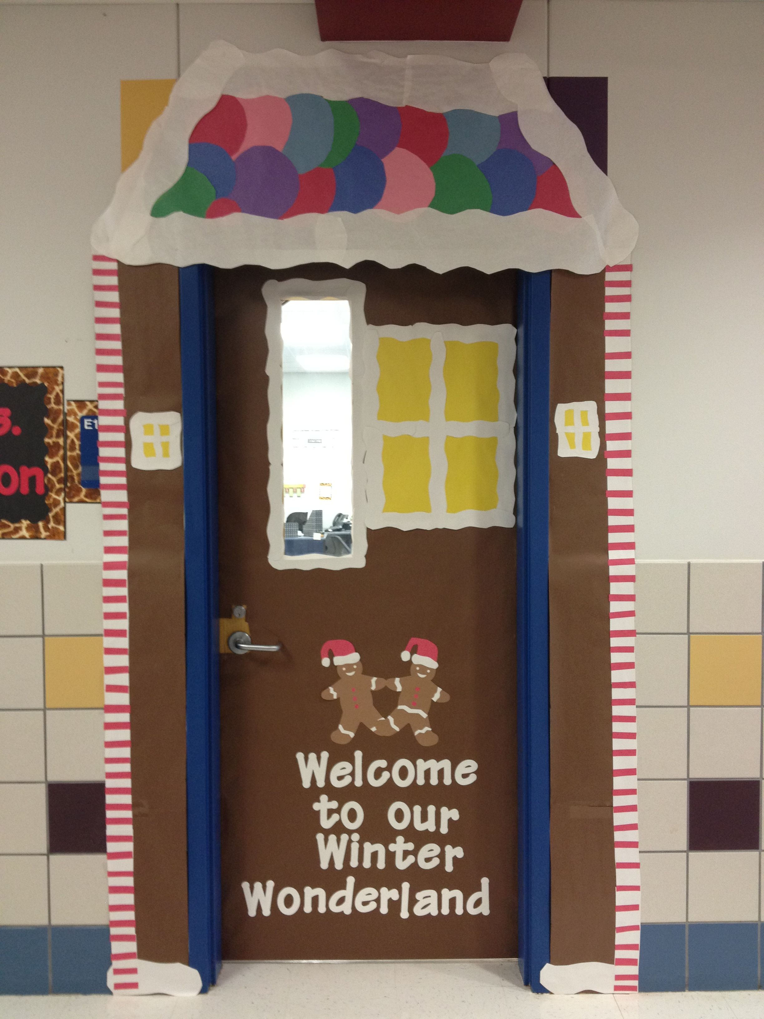 Gingerbread Man House Door Welcome To Our Winter