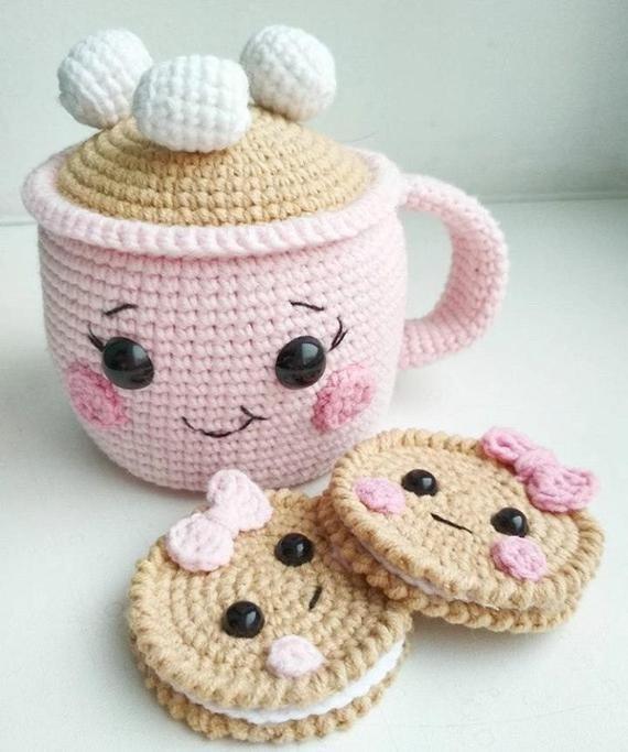 Сrochet dulces crochet la comida juego de ganchillo pasteles crochet delicioso amigurumi Donuts amigurumi deliciosos Donuts pasteles alimentos juego de comida