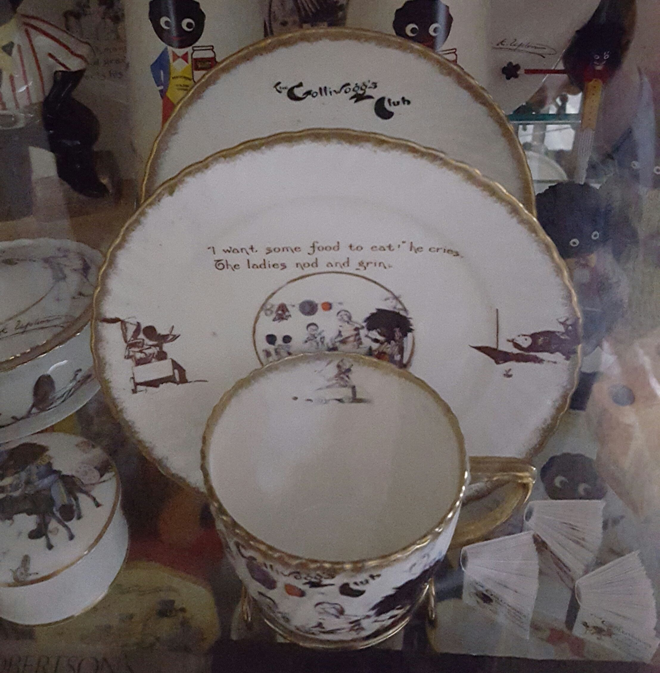 1906 T&R Boote, fine porcelain china, a one off I have never come across again in all my years of collecting. A Florence Upton Trio. My favourite piece in my collection :)