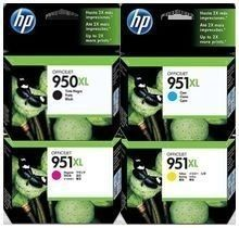 Genuine HP 950xl Black plus 951xl Cyan, Magenta and Yellow full set - Full set of genuine Hewlett Packard ink cartridges sent promptly from our Liverpool depot - http://ink-cartridges-ireland.com/genuine-hp-950xl-black-plus-951xl-cyan-magenta-and-yellow-full-set/ - 950XL, 951XL, and, black, cyan, Full, Genuine, HP, magenta, Plus, Set, yellow