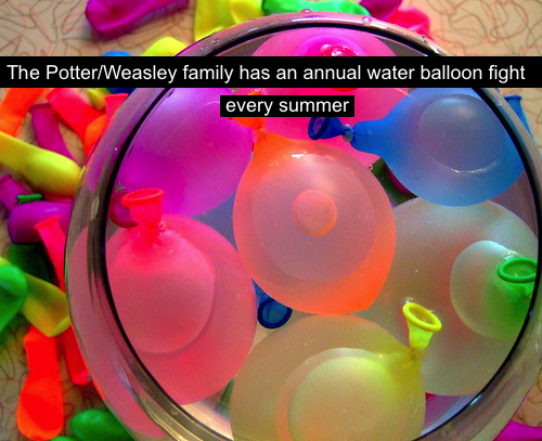 Welcome To The New Age Water Balloon Fight Water Balloons Potter
