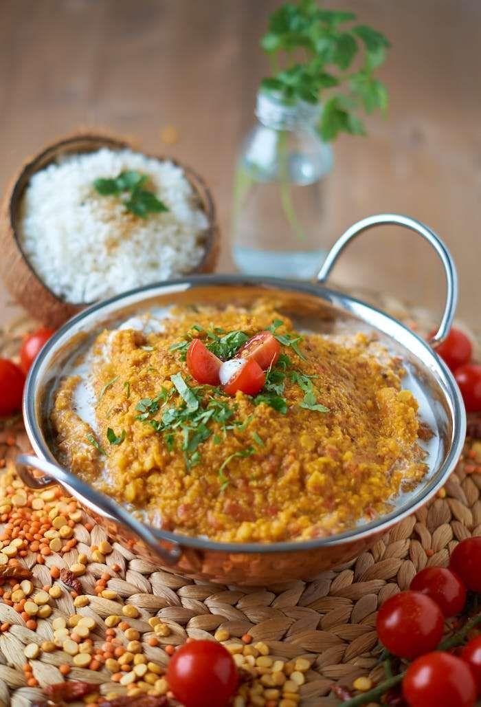 Rote Und Gelbe Linsen Dal Mit Tomaten | Rezept | Indische, Linsen
