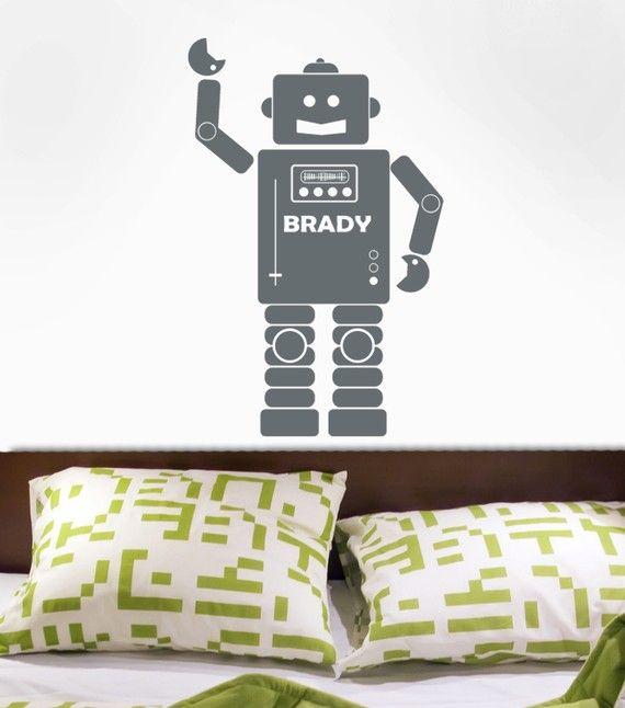 Robot Wall Decal Robot doing the robot wall sticker graphic decor mural bboy art