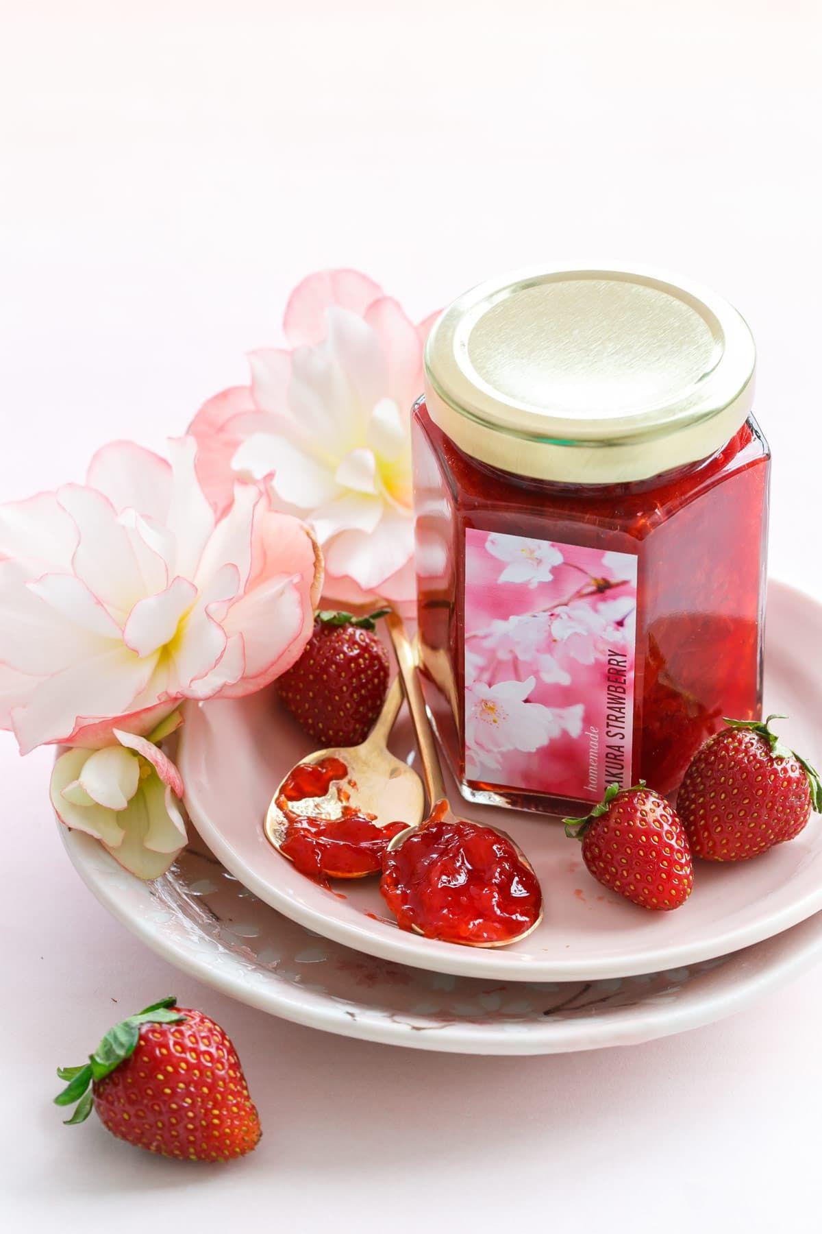 Sakura Strawberry Jam Recipe With Images Strawberry Jam Jam