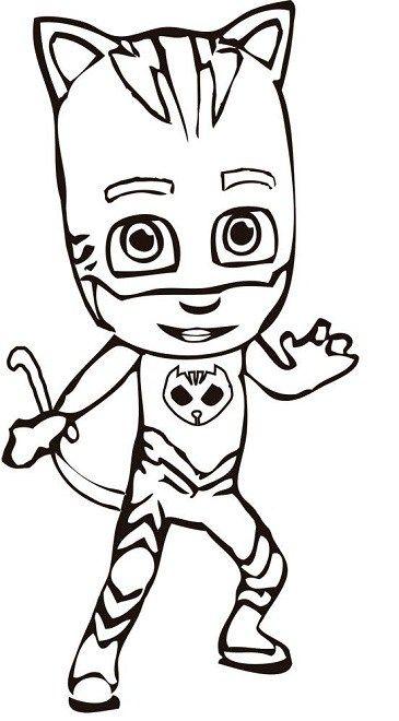 Dibujos Para Colorear Pjmasks Heroes En Pijamas Boyama