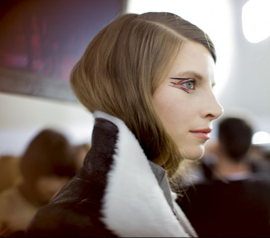Backstage — Anthony Vaccarello Fall 2014 — Photographed by Kevin Tachman