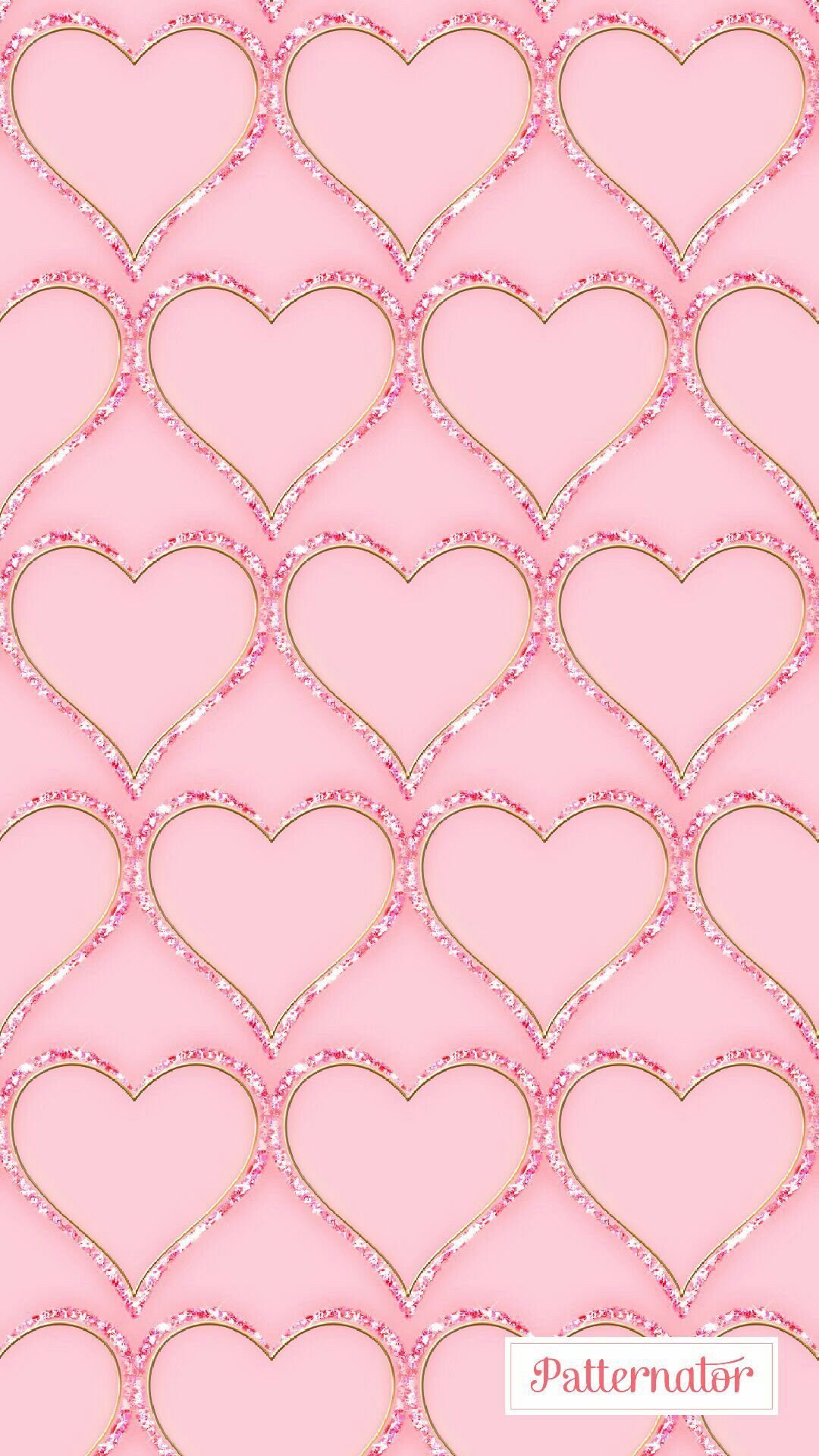 pink sparkly bling hearts wallpaper | *hearts and roses wallpapers