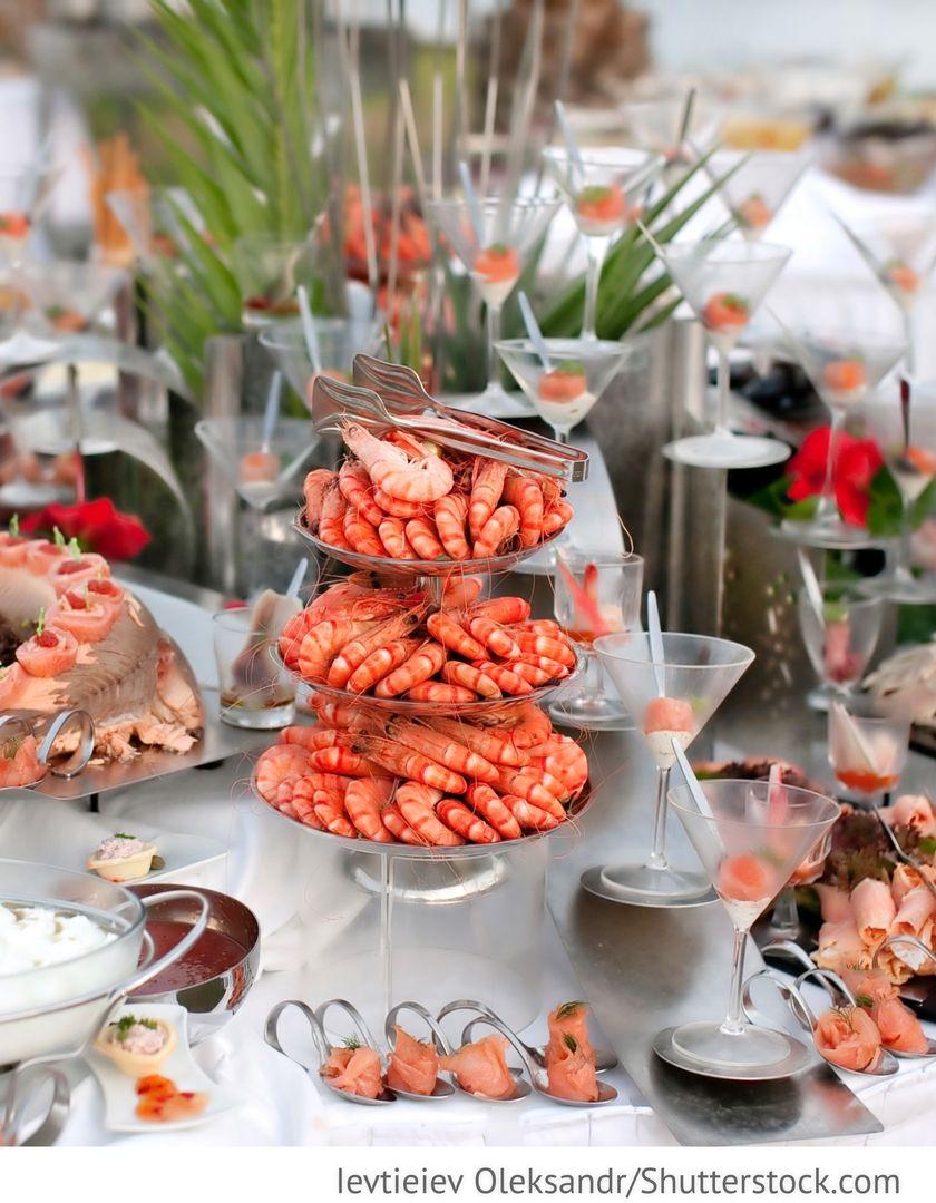 Fischbuffet Fingerfood Fur Die Hochzeit Buffet Essen Fischbuffet Hochzeit Catering