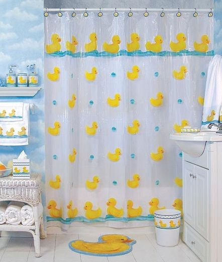 Rubber Ducky Bathroom Decor Shower Curtain Rubber Ducky Bathroom