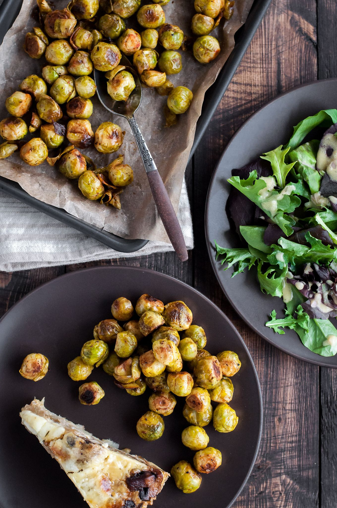 Roasted Smoky Lemon Brussels Sprouts Recipe Food
